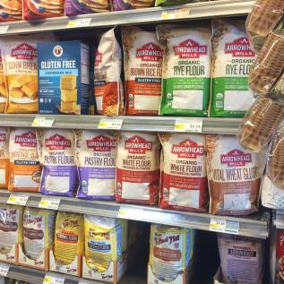 Different flours at Whole Foods