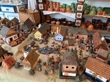 Visiting pottery studio